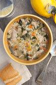 Chicken lemon spinach soup