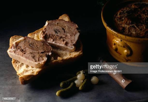 Chicken liver terrine on bread