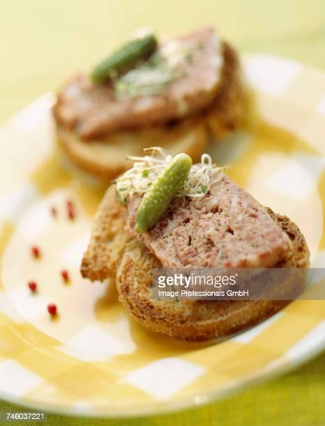 Chicken liver terrine on toast