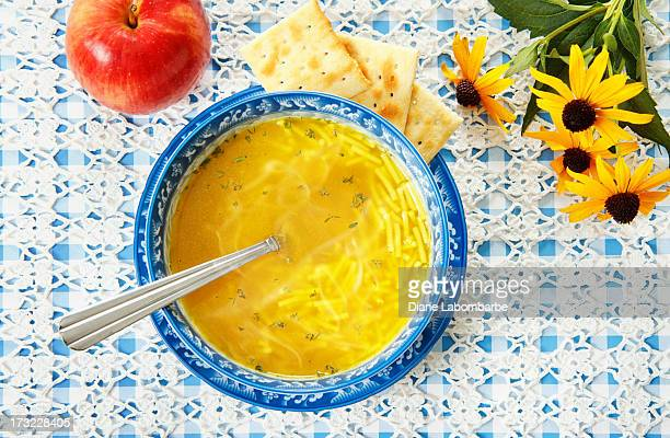 Chicken Noodle Soup And Apple