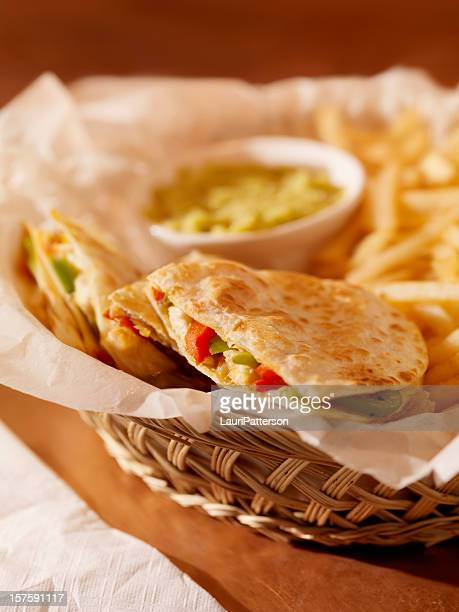 Chicken Quesadilla with French Fries