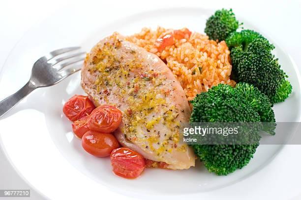 Chicken & Reis Abendessen