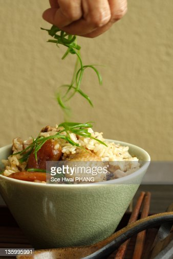 Chicken rice : Stock Photo