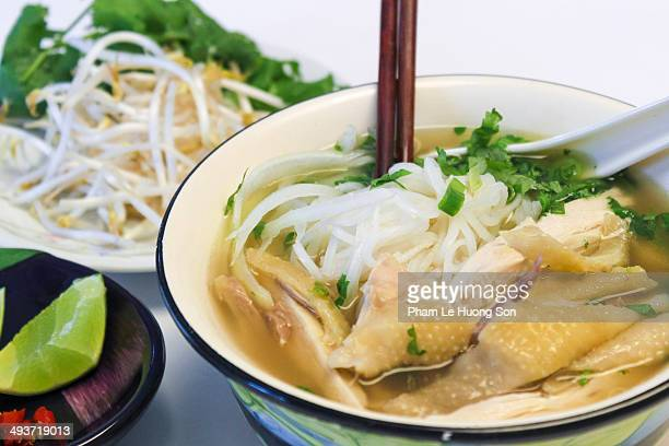 Chicken rice vermicelli (noodle) soup
