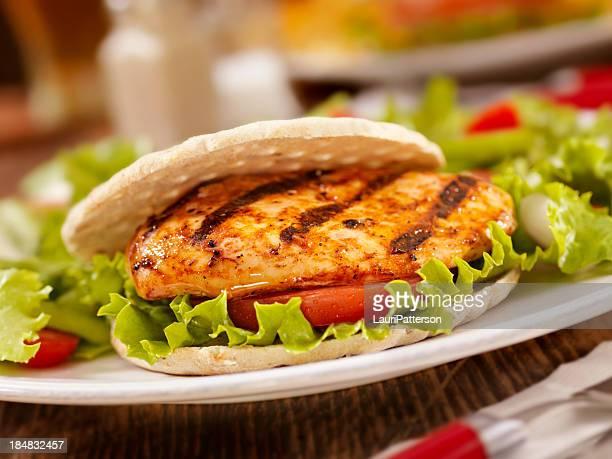 Sándwich de pollo a la barbacoa