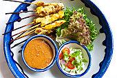Chicken Satay at Sheraton Hotel on Sukhumvit.
