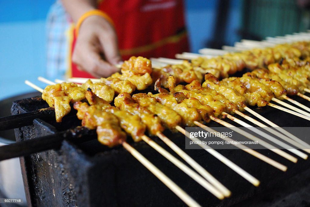 Chicken satay : Stock Photo