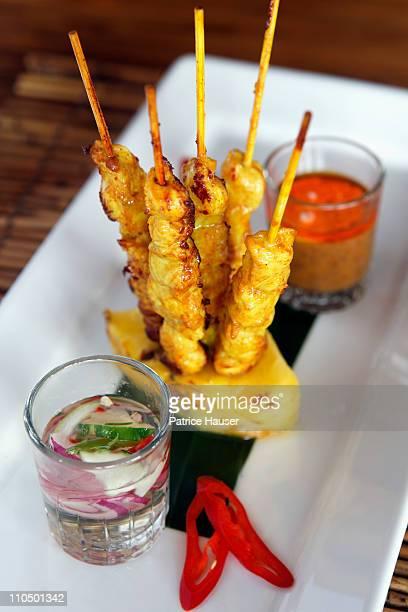 Chicken satay, satay gai,
