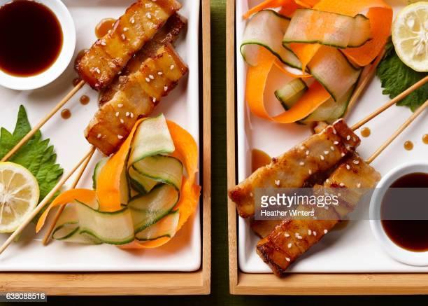 Chicken Satay with Veggie Slices