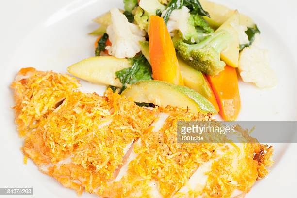 Chicken Schnitzel with boiled vegetable
