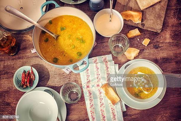 Chicken Soup with Carrots and Parsnips