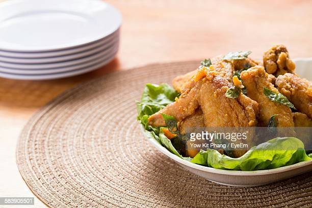 Chicken Wing In Bowl On Table