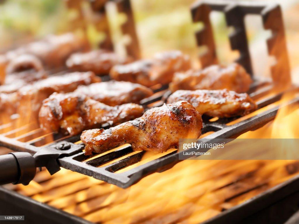 BBQ Chicken Wings : Stock Photo