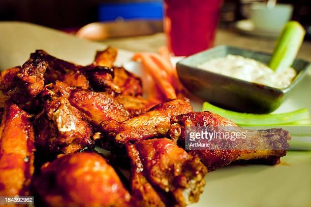 Asas de frango BBQ