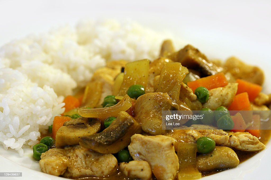 Chicken with Madras curry : Stock Photo