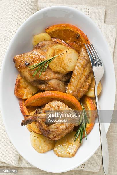 Chicken with oranges and rosemary