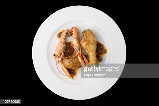 Chicken with prawn : Stock Photo