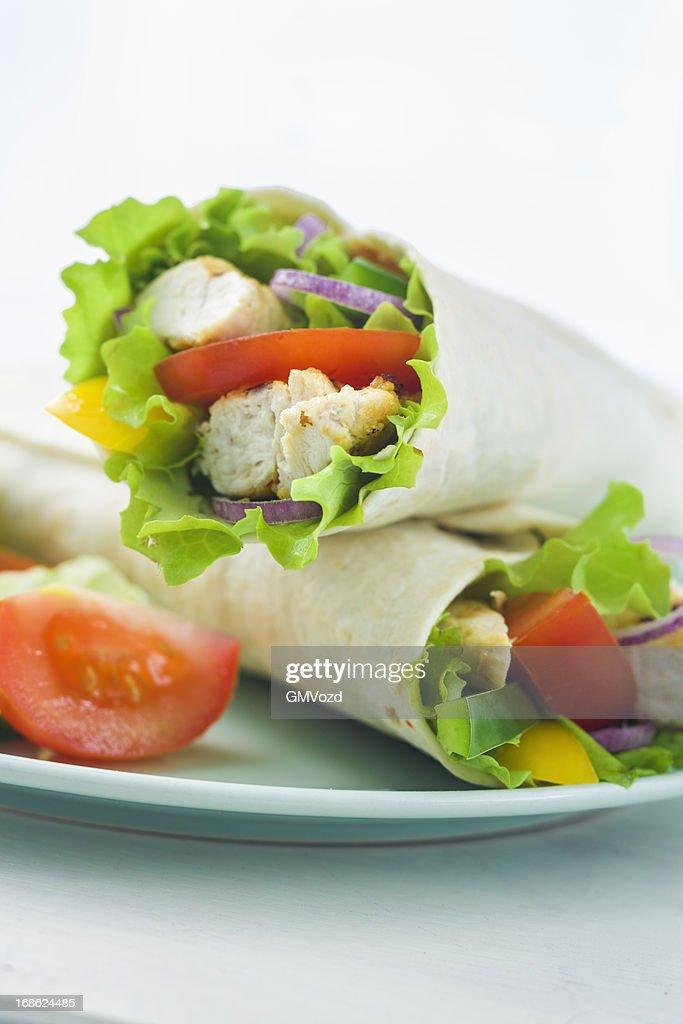 Chicken Wrap Sandwich : Stock Photo