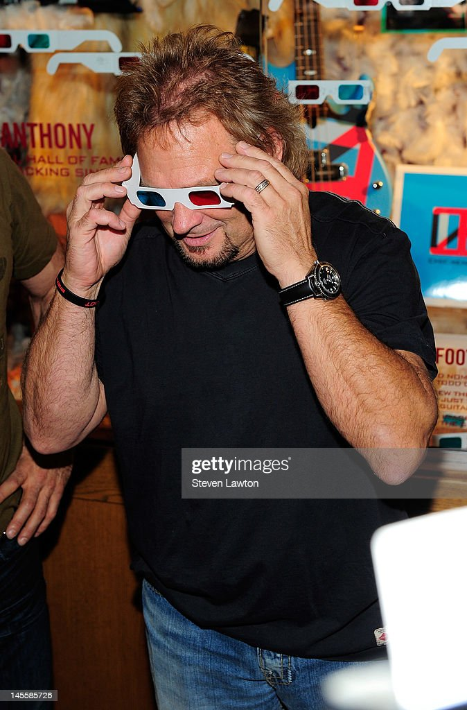 Chickenfoot bass player Michael Anthony arrives to open a Chickenfoot dedication case at Hard Rock Hotel and Casino on June 1, 2012 in Las Vegas, Nevada.
