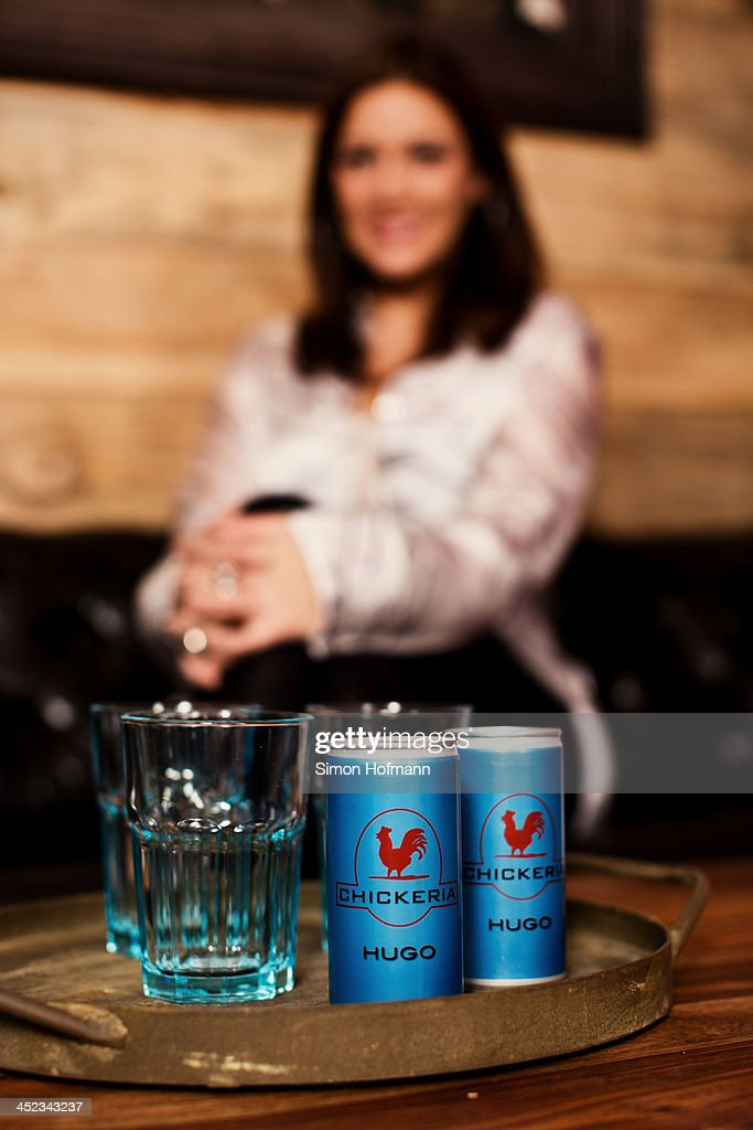'Chickeria'-labeled cans are seen during a photo session at <a gi-track='captionPersonalityLinkClicked' href=/galleries/search?phrase=Simone+Ballack&family=editorial&specificpeople=554497 ng-click='$event.stopPropagation()'>Simone Ballack</a>'s new restaurant Chickeria on November 28, 2013 in Kaiserslautern, Germany.