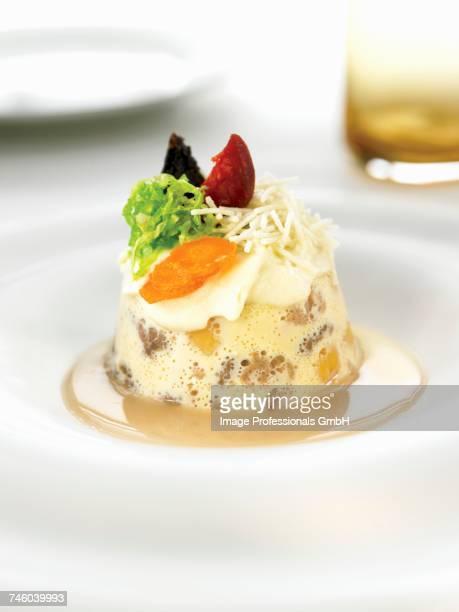 Chickpea,mushroom,blood sausage ,chorizo et pancetta tumbler