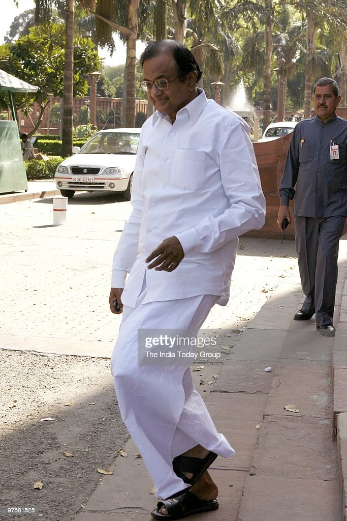 P Chidambaram at Parliament for the Women�s Bill session in New Delhi on Monday, March 8, 2010.