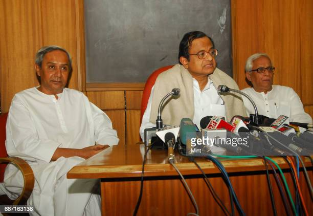 Chidambaram Indian Home Minister at a press conference