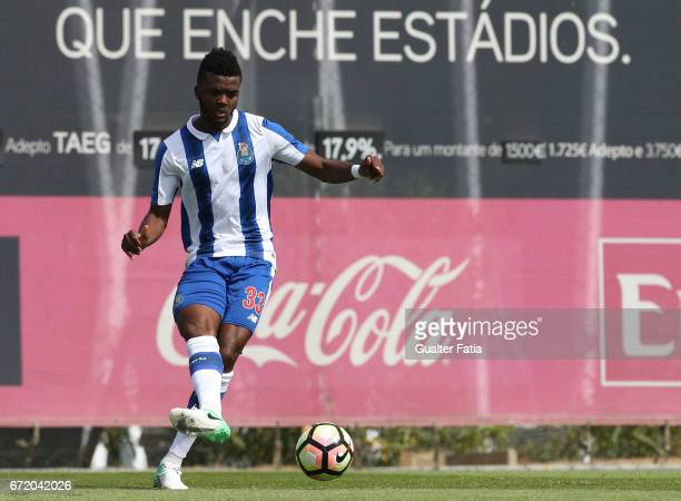 Chidozie of FC Porto B in action during the Segunda Liga match between SL Benfica B and FC Porto B at Caixa Futebol Campus on April 23 2017 in Seixal...