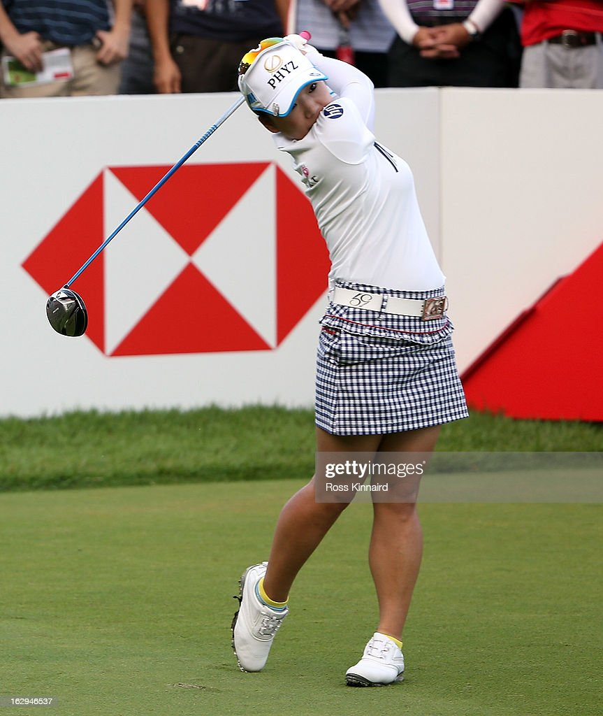 Chie Arimura of Japan during the third round of the HSBC Women's Champions at the Sentosa Golf Club on March 2, 2013 in Singapore, Singapore.