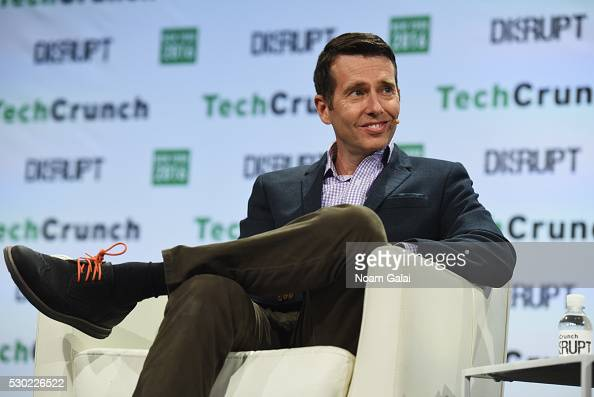 Chief Adviser and Member of the Board of Directors at Uber David Plouffe speaks onstage during TechCrunch Disrupt NY 2016 at Brooklyn Cruise Terminal...
