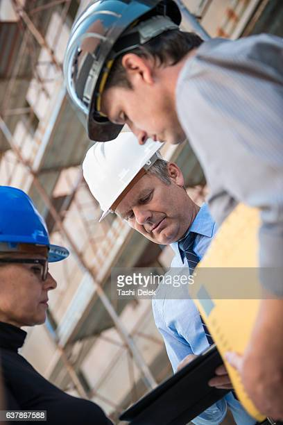 Chief Architect On A Construction Site