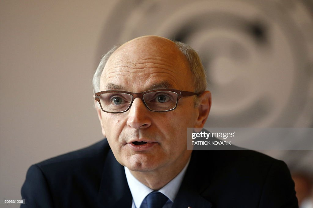 Chief Baron of the Court of Audit of France, Didier Migaud speaks during the presentation of the annual report of the Court of Auditors on February 10, 2016 in Paris. / AFP / PATRICK KOVARIK