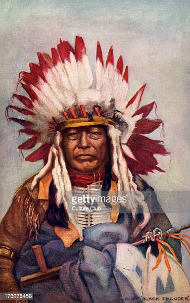 Chief Black Thunder was a Navajo American Indian Chief This illustration made late 19th century Reverse caption claims that he was brother to Chief...