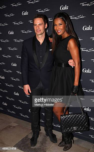 Chief Brand Officer of Thomas Sabo John Schulte and model and actress Marie Amiere attend the Thomas Sabo grand flagship store opening on September...