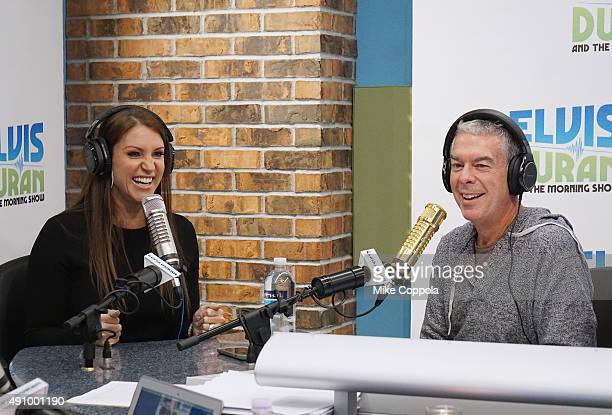 Chief Brand Officer of WWE Stephanie McMahon is interviewed by Elvis Duran during 'The Elvis Duran Z100 Morning Show' at Z100 Studio on October 2...