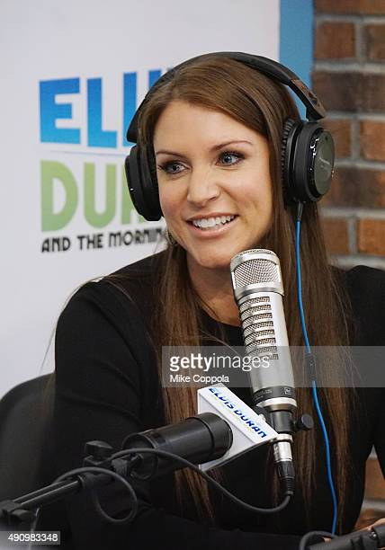 Chief Brand Officer of WWE Stephanie McMahon visits 'The Elvis Duran Z100 Morning Show' at Z100 Studio on October 2 2015 in New York City