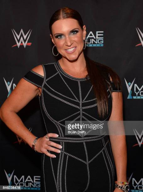 Chief Brand Officer Stephanie McMahon appears on the red carpet of the WWE Mae Young Classic on September 12 2017 in Las Vegas Nevada