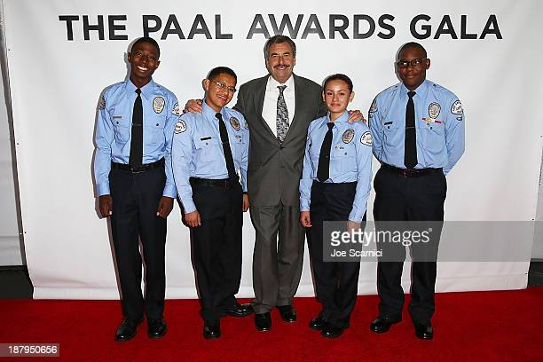 LAPD chief Charlie Beck attends with some cadets the 2013 Los Angeles Police Department South Los Angeles PAAL Awards Gala at Peterson Automotive...