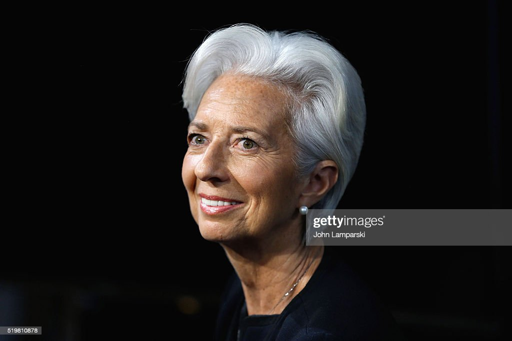 Chief <a gi-track='captionPersonalityLinkClicked' href=/galleries/search?phrase=Christine+Lagarde&family=editorial&specificpeople=566337 ng-click='$event.stopPropagation()'>Christine Lagarde</a> Visits Fox Business Network at FOX Studios on April 8, 2016 in New York City.
