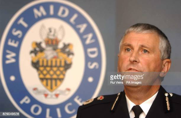 Chief Constable Paul Scott Lee of West Midlands Police speaks at a press conference on the stabbing of Detective Constable Michael Swindells at...