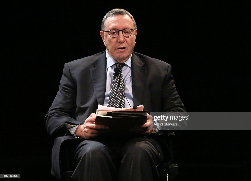 Chief Content Officer at Bloomberg L.P., Norman Pearlstine moderates the Tribeca Talks: The Business of Entertainment: Truth, Persuasion And Bias In Documentaries event at the 2013 Tribeca Film Festival on April 22, 2013 in New York City.