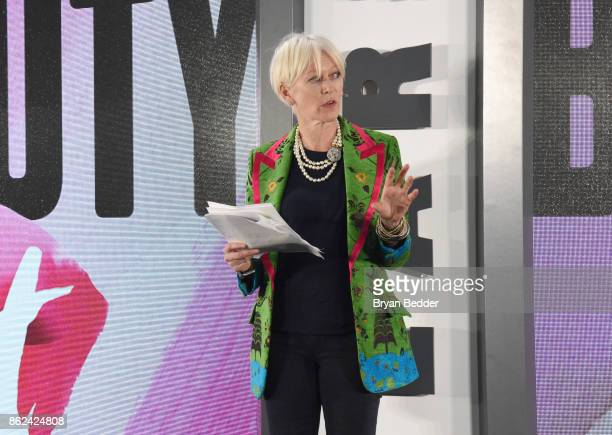 Chief Content Officer Hearst Magazine Joanna Coles speaks onstage at Unbound Access MagFront at Hearst Tower on October 17 2017 in New York City