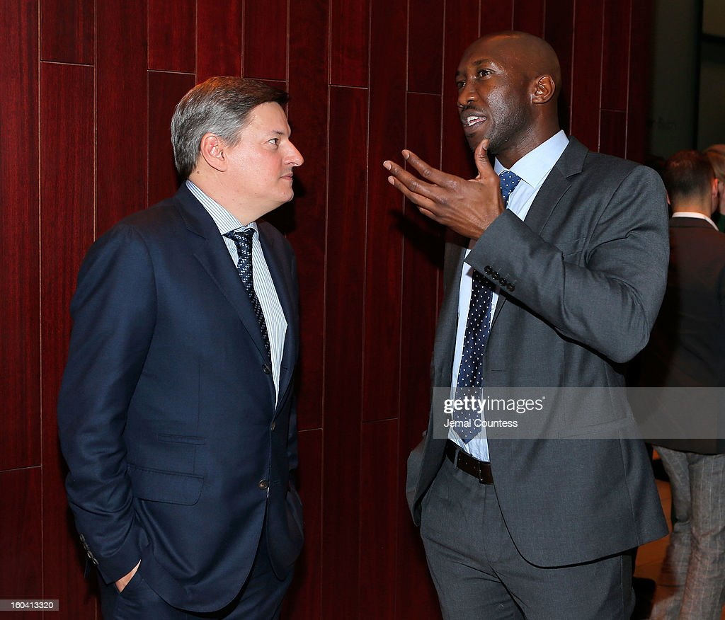 Chief Content Officer, Netflix, Inc. Ted Sarandos and actor Mahershala Ali attend Netflix's 'House Of Cards' New York Premiere After Party at Alice Tully Hall on January 30, 2013 in New York City.