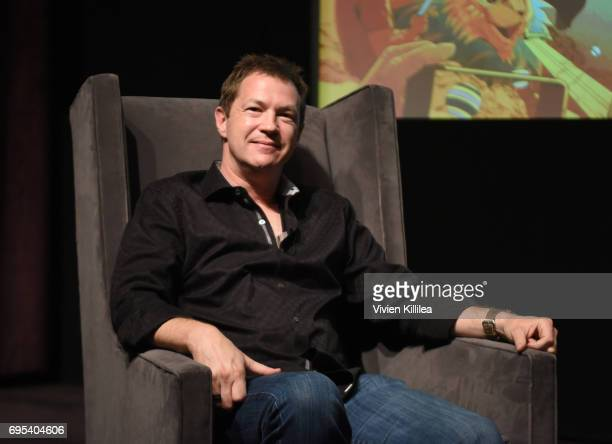 Chief Creative Officer at Blizzard Entertainment Rob Pardo speaks at BAFTA Honours Riot Games with Special Award at The London West Hollywood on June...