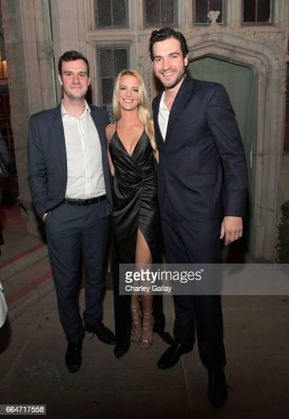 Chief Creative Officer at Playboy Cooper Hefner actors Jade Albany and Matt Whelan attend Amazon Original Series 'American Playboy The Hugh Hefner...