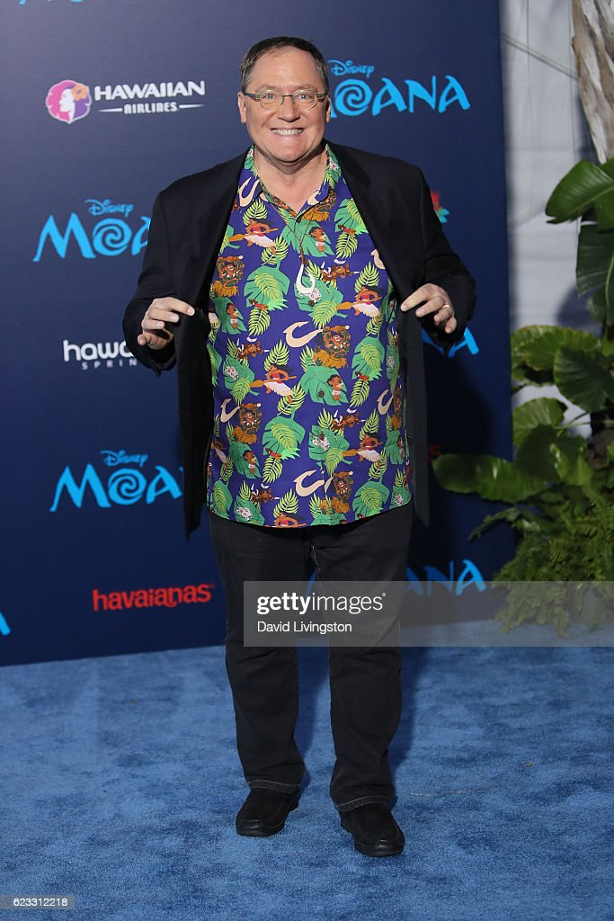 Chief creative officer of Pixar John Lasseter arrives at the AFI FEST 2016 presented by Audi premiere of Disney's 'Moana' held at the El Capitan Theatre on November 14, 2016 in Hollywood, California.