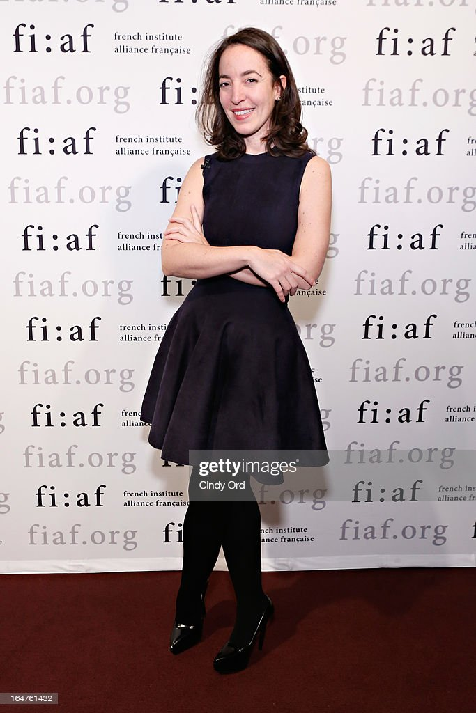 Chief Curator of Fashion and Textiles at Les Arts Decoratifs in Paris, Pamela Golbin attends Fashion Talks 2013 Presents: Naeem Khan at Florence Gould Hall on March 27, 2013 in New York City.