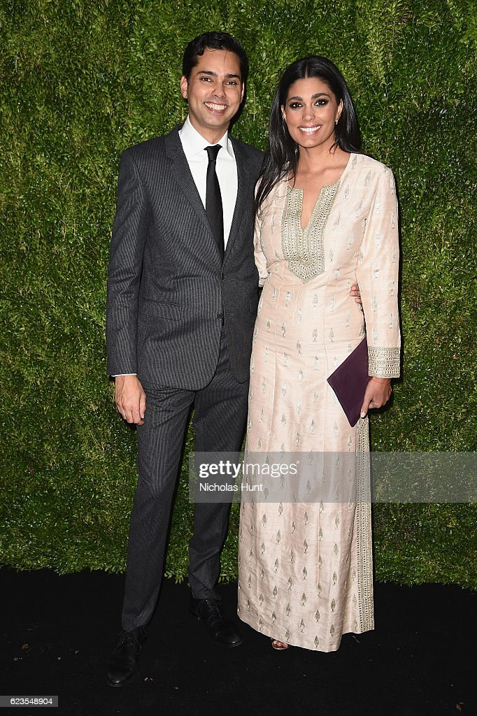 Chief Curator of Film, MoMA, Rajendra Roy and designer Rachel Roy attend the MoMA Film Benefit presented by CHANEL, A Tribute To Tom Hanks at MOMA on November 15, 2016 in New York City.