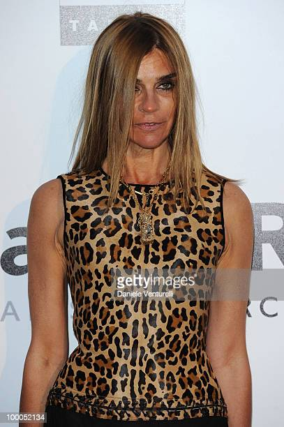 Chief Editor French Vogue Carine Roitfeld arrives at amfAR's Cinema Against AIDS 2010 benefit gala at the Hotel du Cap on May 20 2010 in Antibes...