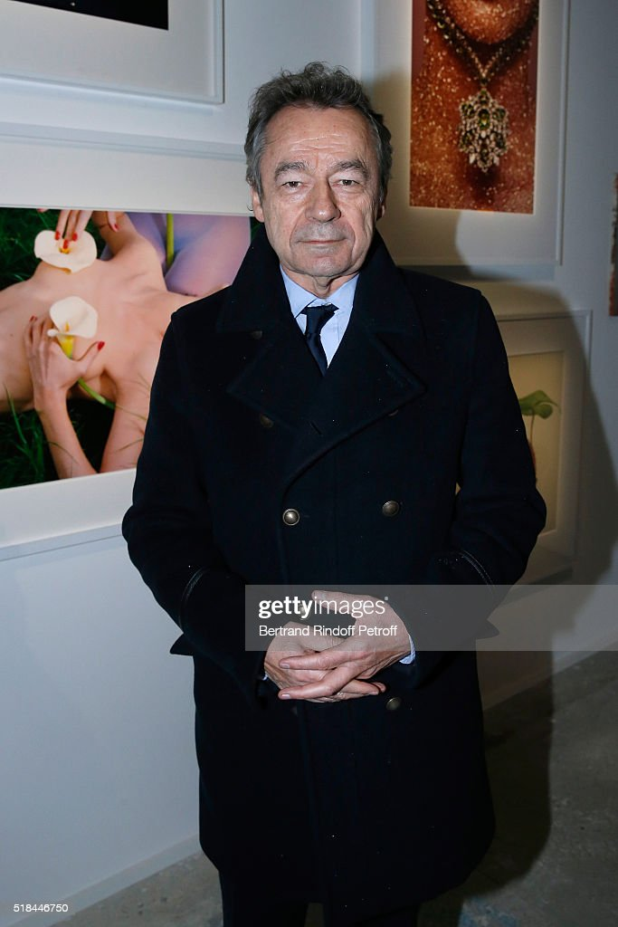 Chief Editor of Vanity Fair France, Michel Denisot attends the 'Guy Bourdin - Portraits' - Exhibition Opening and Cocktail at Studio des Acacias on March 31, 2016 in Paris, France.